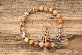 Šperky - Pánsky náramok jaspis buddha - 7589557_