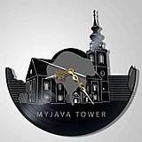 Myjava - veža Ev.kostola - vinyl clocks (vinylové hodiny)