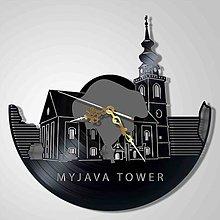 Hodiny - Myjava - veža Ev.kostola - vinyl clocks (vinylové hodiny) - 7590086_