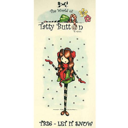 Gumené razítko Let it Snow