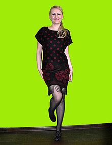 Šaty - Čierno - bordové šatky - 7590082_