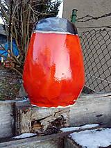 váza oranžová zlatá