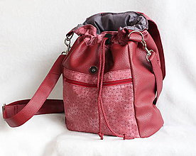 Batohy - 2 v 1 ruksak bordový - 7589388_