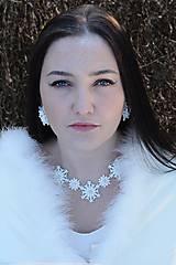 Sady šperkov - Zimný svadobný set_Snehové Vločky - 7589971_