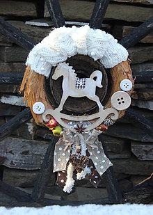 Dekorácie - vianočný s koníkom - 7589889_