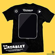 Tričká - Návrat: Interaktívne tričko pre rodičov TATABLET - 7589206_