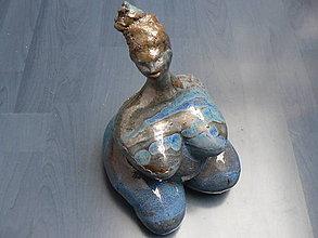 Socha - Keramika, Exotická žena - 7590009_