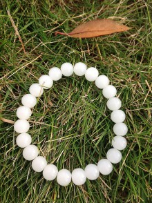 Náramky - Jednoduchosť - elegancia - biely jadeit - 7591415_