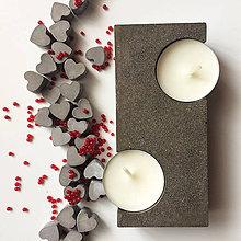 Svietidlá a sviečky - Betónový svietnik SINUOSO \