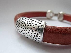 Náramky - náramek ... má oblíbená klasika tečkovaná - 7590409_