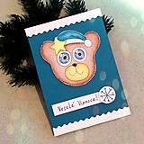 Papiernictvo - VÝPREDAJ vianočná pohľadnica macko - 7591357_