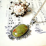 Vintage Unakite & Ornaments / Výrazný náhrdelník s unaiktom