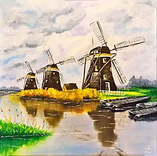 Obrazy - Veterné mlyny - 7592554_