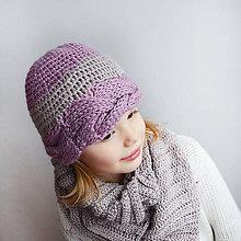Detské čiapky - čiapka zapletená z HODVÁBU - 7593650_