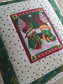 Úžitkový textil - Vianočný vankúš - 7593379_