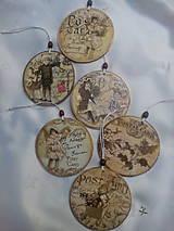 Dekorácie - Vianočné ozdoby Vintage - 7592990_