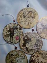 Dekorácie - Vianočné ozdoby Vintage - 7592992_