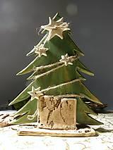 Dekorácie - keramický vianočný stromček - 7592098_