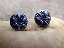 Náušnice - náušnice z polyméru modré - 7592636_