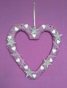 Dekorácie - Srdce - vianočná dekorácia - 7592906_