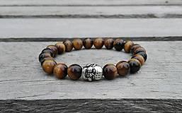 Náramok - Tigrie oko Budha