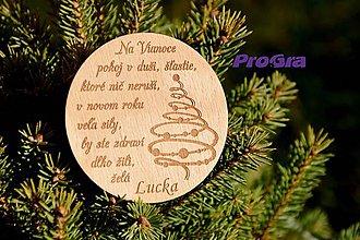 Magnetky - Vianočná magnetka - okrúhla - 7593273_