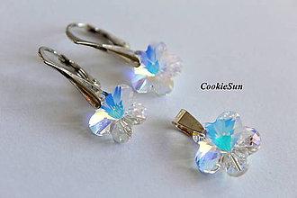 Sady šperkov - Set Swarovski Flower Crystal AB - 7592241_