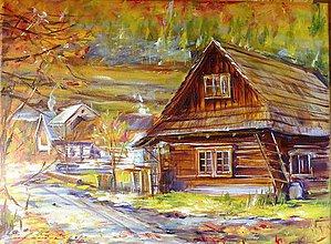 Obrazy - Slovenská chalupa - 7592365_