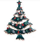 - Štrasová brošnička vianočný stromček - 7593878_