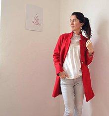 Kabáty - boyfriend coat červený - 7594557_