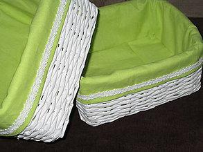 Košíky - Košíky - Biele v jablkovej košieľke - 7595356_