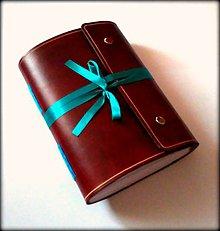 Papiernictvo - Luxusný kožený zápisník ,,Artas