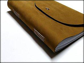 Papiernictvo - Kožený zápisník ,, Light Brown