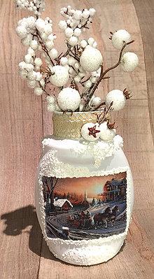 Svietidlá a sviečky - svietnik / vázička - 7596410_