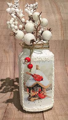 Svietidlá a sviečky - svietnik / vázička - 7596441_