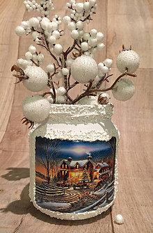 Svietidlá a sviečky - svietnik / vázička - 7596445_