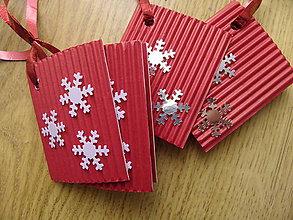 Drobnosti - vianočné visačky červené - 7596306_