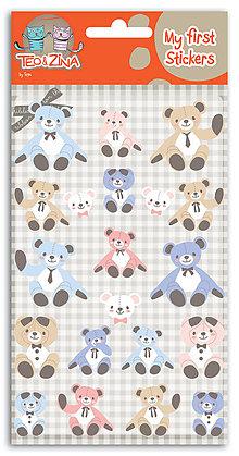 Polotovary - SFZ46 Moje prvé nálepky Téo&Zina – Medvedíky 2 - 7596062_