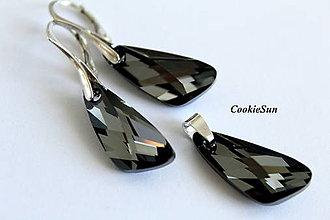 Sady šperkov - Set Swarovski Wing Silver Night - 7595942_