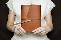 - Ručne viazaný kožený zápisník Richard - 7595193_