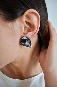 Náušnice - Astoria earrings marble black - 7598613_
