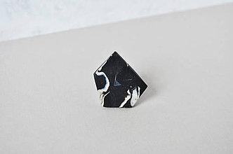 Prstene - Astoria ring marble white - 7598805_