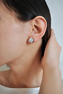Náušnice - Astoria earrings marble white - 7598836_