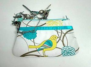 Taštičky - taštička vtáčik - 7598496_