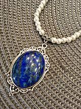 Lapis Lazuli & Pearls Necklace / Náhrdelník s perlami a s lazuritom
