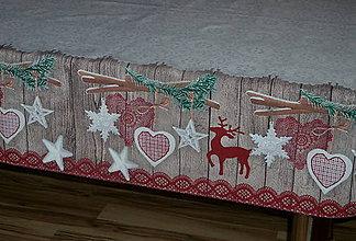 Úžitkový textil - Obrus Vianočná čipka - 7598233_