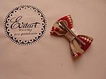 Doplnky - Vianočné motýliky a mašľa - set - 7598393_