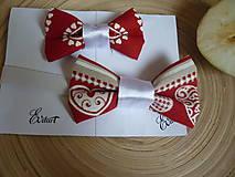 Doplnky - Vianočné motýliky a mašľa - set - 7598395_