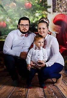 Doplnky - Vianočné motýliky a mašľa - set - 7598382_