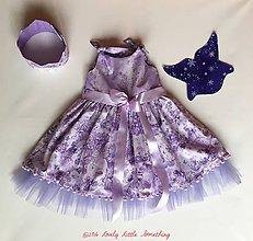 Detské oblečenie - Strieborno-fialové vílové s krídlami - 7599005_